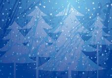 De kerstbomen ploeteren backg Royalty-vrije Stock Foto's