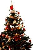 De kerstboom decotared Stock Foto's