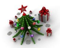 De kerstboom is een symbool van Kerstmis en Nieuwjaar royalty-vrije illustratie