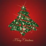 De kerstboom en huwt Kerstmiswensen Royalty-vrije Stock Foto's