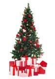 De kerstboom en stelt voor Royalty-vrije Stock Afbeelding