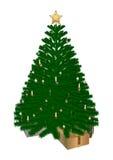 De kerstboom en stelt voor Stock Afbeelding