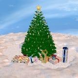 De kerstboom en stelt voor Stock Fotografie