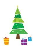 De kerstboom en stelt voor Royalty-vrije Stock Fotografie