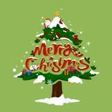 De kerstboom huwt Kerstmis Royalty-vrije Stock Foto