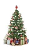 De kerstboom met stelt voor Royalty-vrije Stock Foto