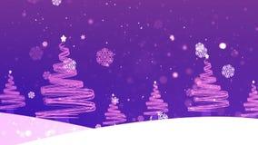 De kerstboom schiet 4 weg stock videobeelden