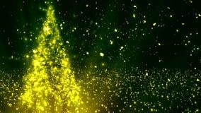 De kerstboom schittert 2 stock footage