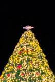 De Kerstboom van Bokeh Stock Afbeelding