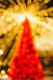 De Kerstboom van Bokeh Stock Foto