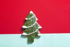 De Kerstboom van de peperkoek Stock Foto