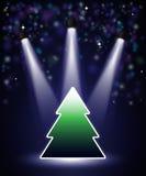 De Kerstboom van de schijnwerper royalty-vrije illustratie
