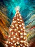 De Kerstboom van de ster Stock Foto