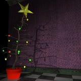 De Kerstboom van de Stijl van de stok stock illustratie