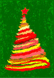 De Kerstboom van Grunge Stock Fotografie