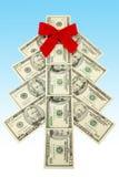 De Kerstboom van het geld Royalty-vrije Stock Afbeeldingen