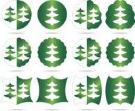 De Kerstboom van reeksen Stock Afbeeldingen