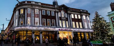 De Kerstboompanorama van York in Betty ` s stock afbeelding