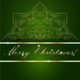 De kerstkaart kan voor websitedecoratie worden gebruikt Stock Foto