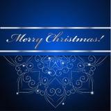 De kerstkaart kan voor websitedecoratie worden gebruikt Royalty-vrije Stock Afbeelding