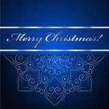De kerstkaart kan voor websitedecoratie worden gebruikt Stock Foto's