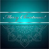 De kerstkaart kan voor websitedecoratie worden gebruikt Royalty-vrije Stock Afbeeldingen