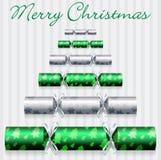 De Kerstkaart van de cracker Stock Fotografie