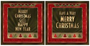 De Kerstkaart van het art deco Royalty-vrije Stock Afbeeldingen