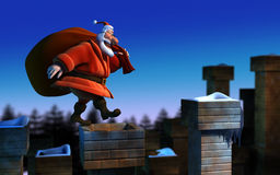 De Kerstman _2 stock illustratie