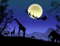 De Kerstman in Afrika Royalty-vrije Stock Afbeeldingen