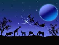 De Kerstman in Afrika Stock Afbeelding