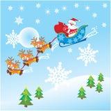 De Kerstman & rendier Royalty-vrije Illustratie