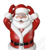 De kerstman begint aan Paniek! vector illustratie
