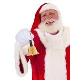 De Kerstman belt de klok royalty-vrije stock afbeelding