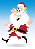 De Kerstman in beweging Stock Foto