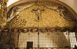De Kerstman Clara Church Queretaro Mexico van het Balkon van nonnen Stock Foto