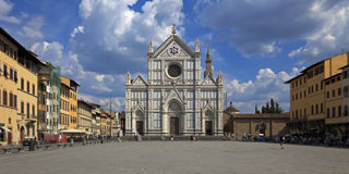 De kerstman Croce, Florence, Italië van de Basiliek stock afbeelding