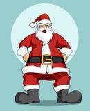De Kerstman: De groetkaart van Kerstmis Stock Afbeeldingen