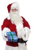 De Kerstman die een gift geeft Royalty-vrije Stock Afbeelding