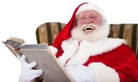 De Kerstman die een verhaal vertelt stock fotografie