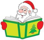 De Kerstman die het boek leest vector illustratie
