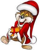De kerstman draagt en Gift Stock Fotografie