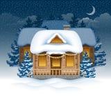 De Kerstman draagt giften vector illustratie