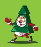 De Kerstman in een kostuum van Kerstboom Stock Afbeelding