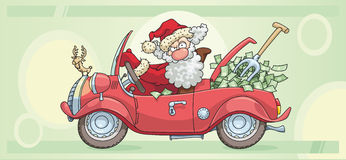 De Kerstman en Geld Royalty-vrije Stock Fotografie