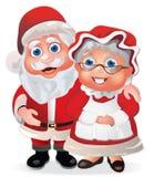 De Kerstman en Mevr. Claus stock illustratie
