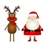 De Kerstman en rendier stock illustratie