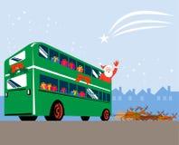De Kerstman en rendieren Stock Afbeelding