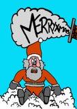 De Kerstman gevallen Stock Fotografie