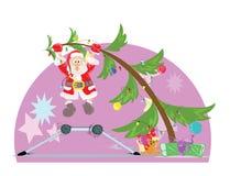 De Kerstman hangt door te eten, wanneer om g te hangen Stock Afbeelding